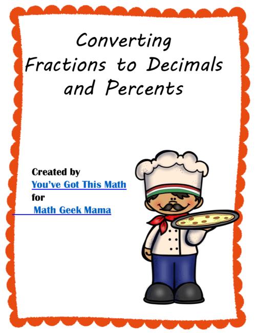 small resolution of Convert Fractions to Decimals \u0026 Percents: FREE Puzzles