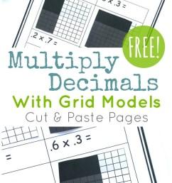FREE} Multiply Decimals with Grids: Cut \u0026 Paste Set [ 1441 x 800 Pixel ]