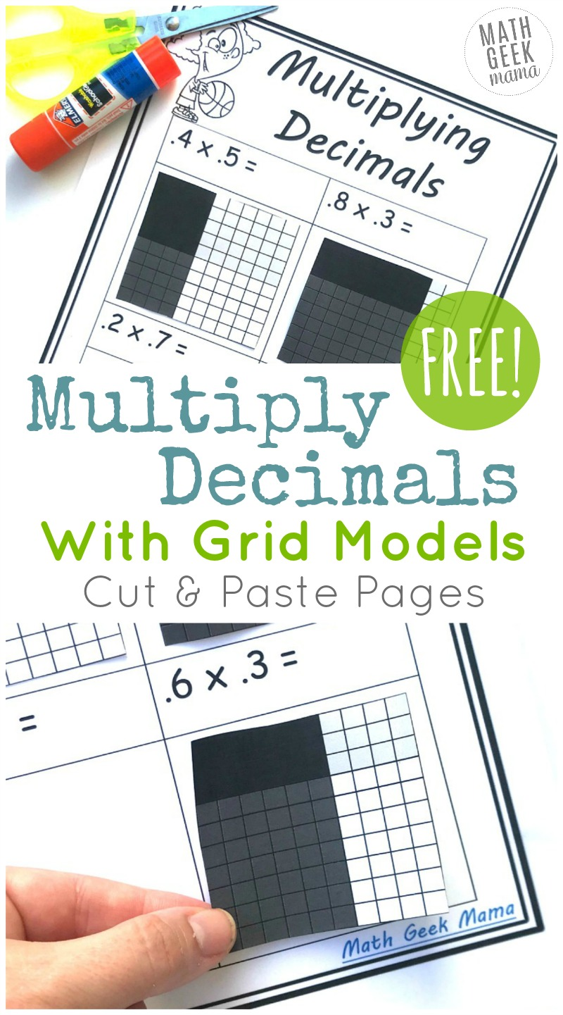 hight resolution of FREE} Multiply Decimals with Grids: Cut \u0026 Paste Set