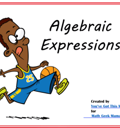 Writing Algebraic Expressions: FREE Practice Pages   Math Geek Mama [ 801 x 1024 Pixel ]