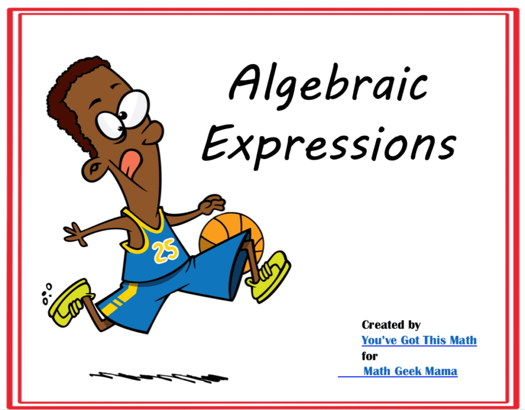 hight resolution of Writing Algebraic Expressions: FREE Practice Pages   Math Geek Mama