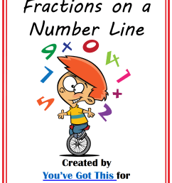 FREE} Fractions on a Number Line Clip Cards [ 1410 x 1068 Pixel ]