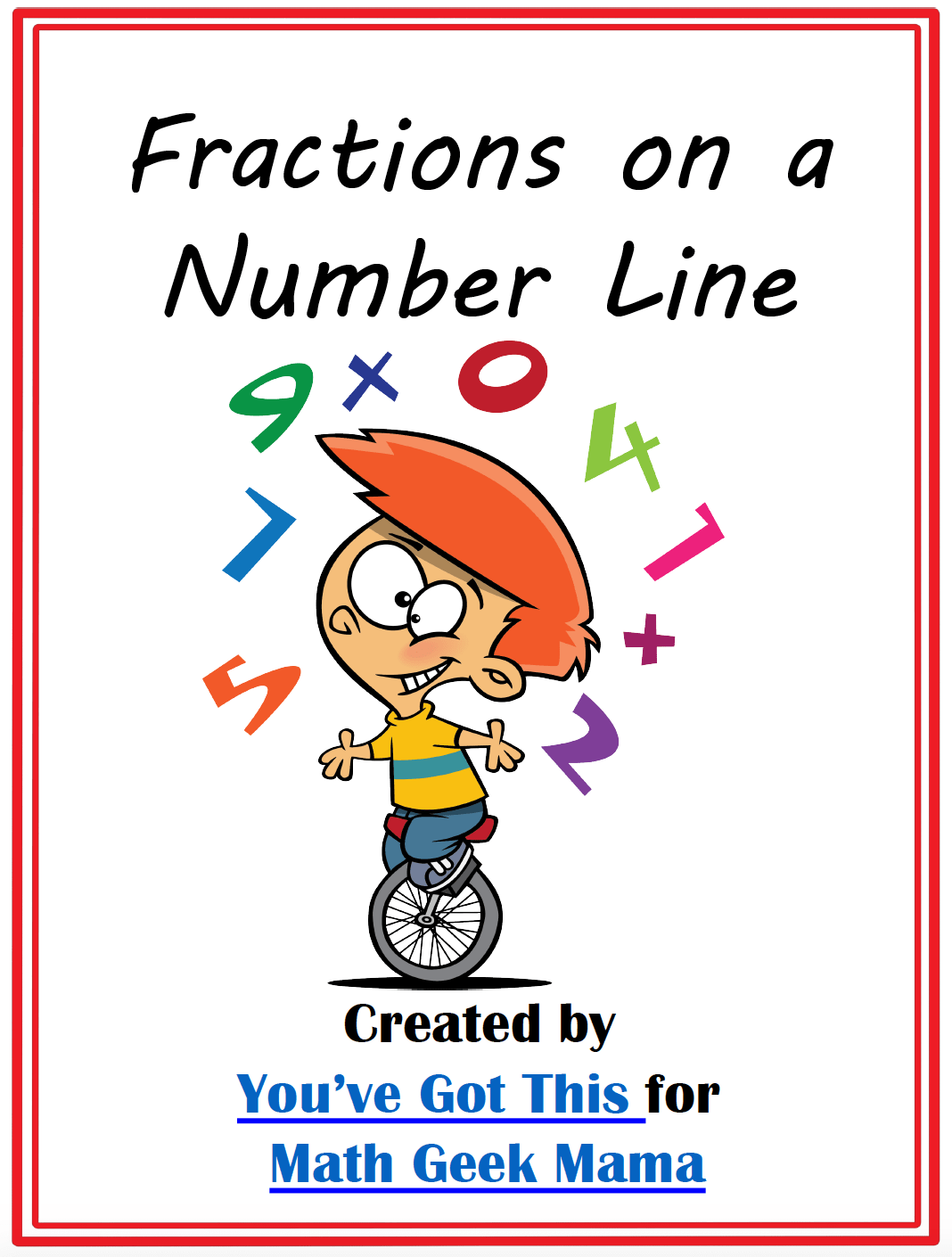 hight resolution of FREE} Fractions on a Number Line Clip Cards