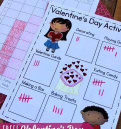 Valentine's Day Data Analysis Activity for K-2   Math Geek Mama [ 1117 x 800 Pixel ]