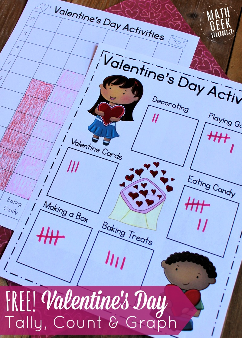 medium resolution of Valentine's Day Data Analysis Activity for K-2   Math Geek Mama