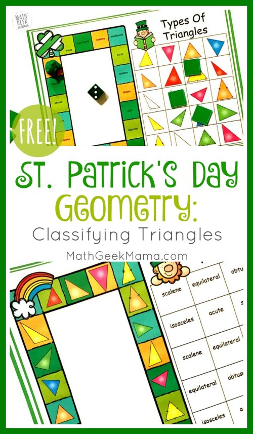small resolution of FREE} St. Patrick's Day Triangle Game   Grades 4-6   Math Geek Mama