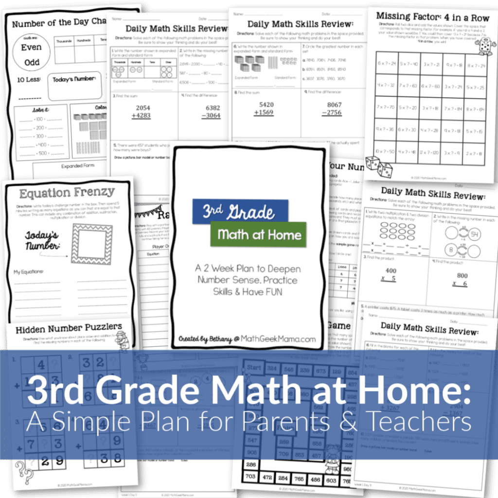 hight resolution of FREE} 3-Digit Addition Challenges   Grades 3-5   Math Geek Mama