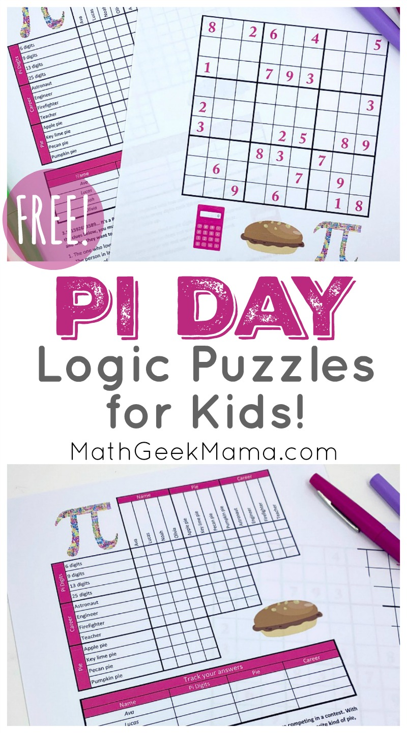 hight resolution of FREE} Pi Day Logic Puzzles   Grades 4+   Math Geek Mama