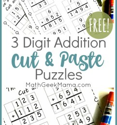 FREE} 3-Digit Addition Challenges   Grades 3-5   Math Geek Mama [ 1364 x 800 Pixel ]