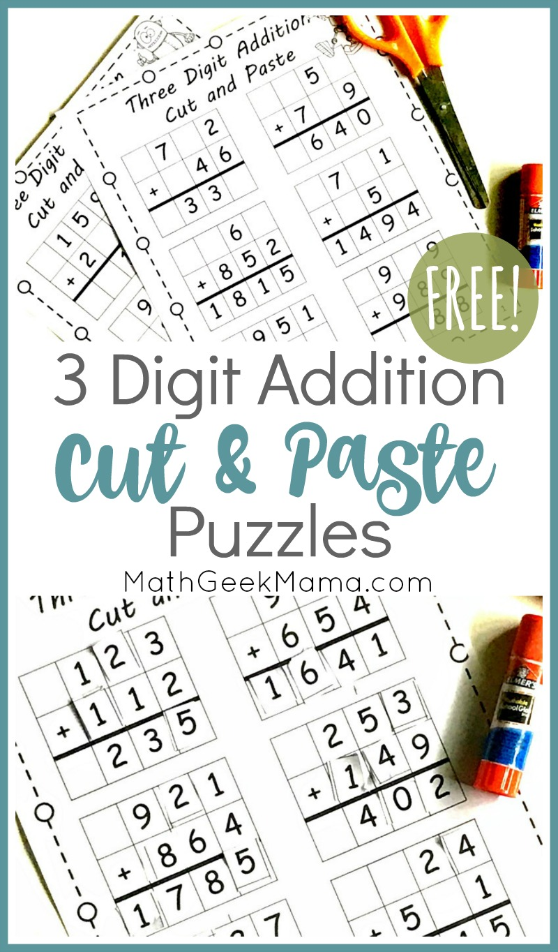 medium resolution of FREE} 3-Digit Addition Challenges   Grades 3-5   Math Geek Mama