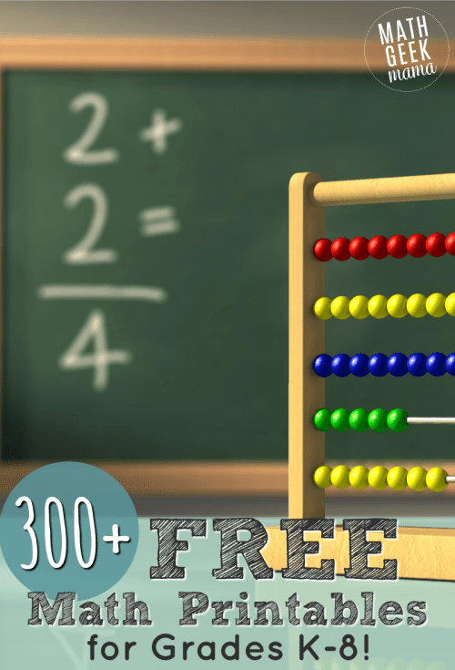 small resolution of FREE Math Worksheets \u0026 Printable Games   Math Geek Mama