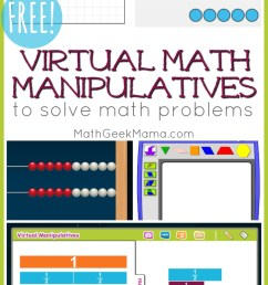 FREE Online Math Manipulatives for At Home Learning   Math Geek Mama [ 1385 x 800 Pixel ]