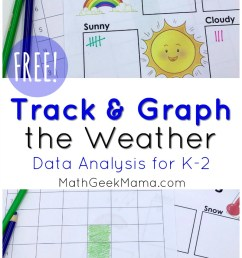 FREE} Weather Graphing Activity: Data Analysis for K-2 [ 1443 x 800 Pixel ]