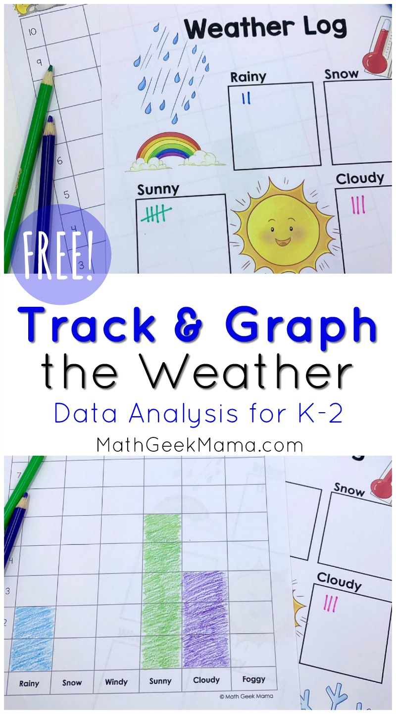 hight resolution of FREE} Weather Graphing Activity: Data Analysis for K-2