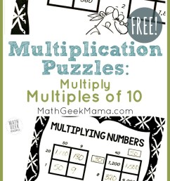 FREE} Multiply by Multiples of 10 Grid Challenges   Math Geek Mama [ 1385 x 800 Pixel ]