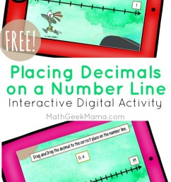 Decimals on a Number Line: DIGITAL Activity for Kids   Math Geek Mama [ 1413 x 800 Pixel ]