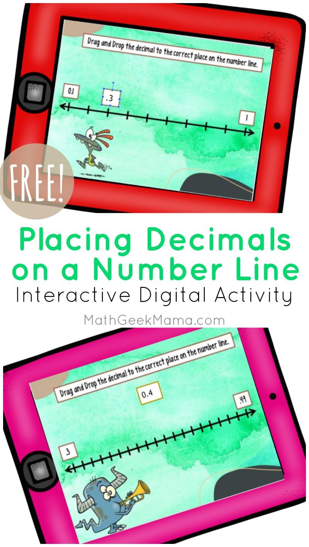 medium resolution of Decimals on a Number Line: DIGITAL Activity for Kids   Math Geek Mama