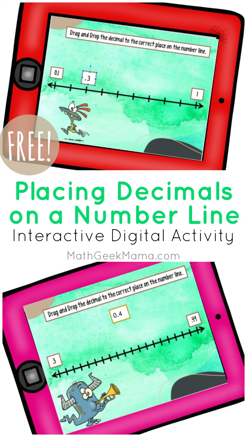 hight resolution of Decimals on a Number Line: DIGITAL Activity for Kids   Math Geek Mama