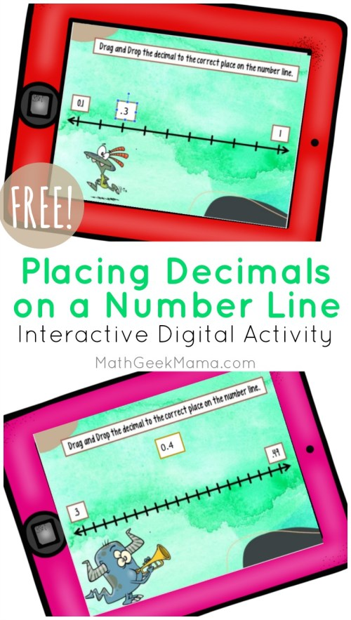 small resolution of Decimals on a Number Line: DIGITAL Activity for Kids   Math Geek Mama