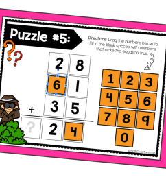 FREE} Addition and Subtraction Puzzles for Google Slides   Math Geek Mama [ 933 x 1400 Pixel ]
