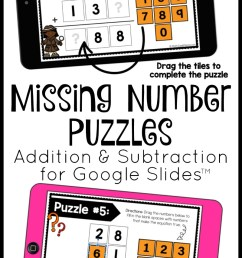 FREE} Addition and Subtraction Puzzles for Google Slides   Math Geek Mama [ 1420 x 800 Pixel ]