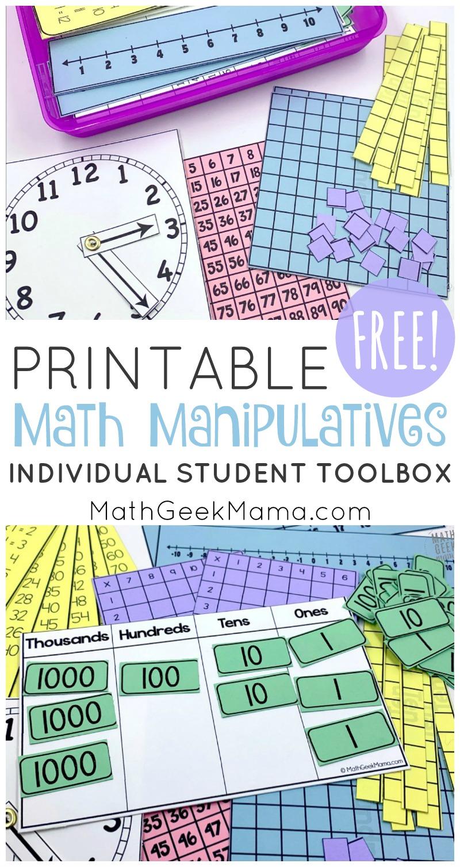 medium resolution of Printable Math Manipulatives   FREE Download