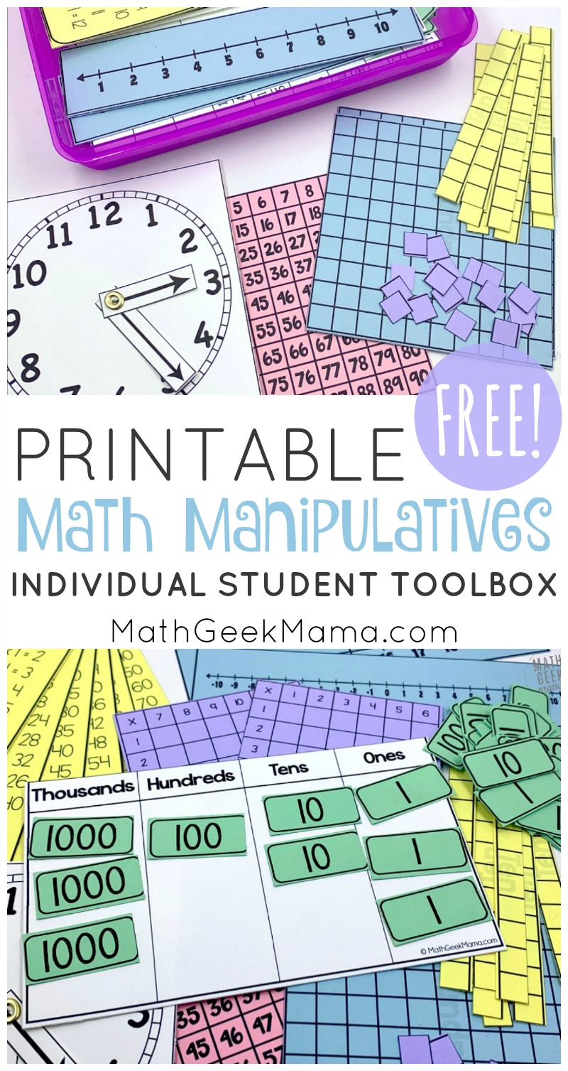hight resolution of Printable Math Manipulatives   FREE Download