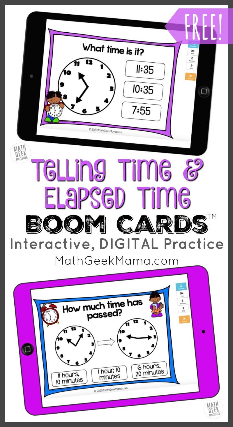 hight resolution of FREE} Telling Time \u0026 Elapsed Time   DIGITAL Self-Checking Practice