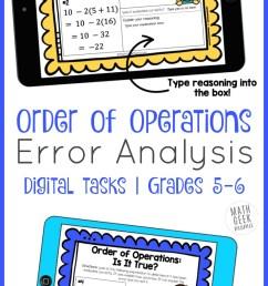 Order of Operations Error Analysis   DIGITAL Practice   Math Geek Mama [ 1421 x 800 Pixel ]