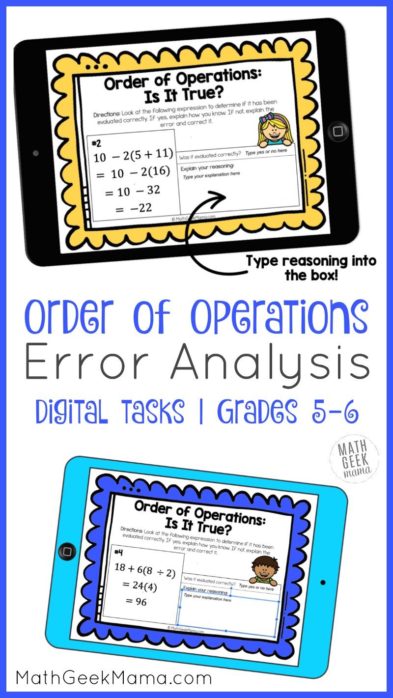 medium resolution of Order of Operations Error Analysis   DIGITAL Practice   Math Geek Mama