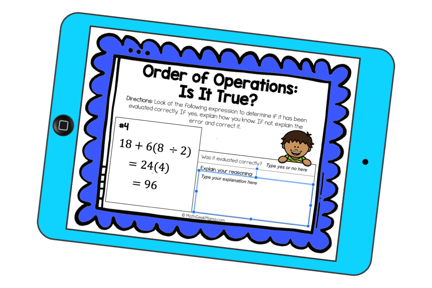 hight resolution of Order of Operations Error Analysis   DIGITAL Practice   Math Geek Mama