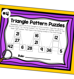 Pattern Puzzles to Build Algebraic Thinking   DIGITAL Puzzles for 3rd-5th [ 933 x 1400 Pixel ]