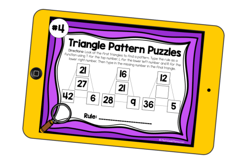 small resolution of Pattern Puzzles to Build Algebraic Thinking   DIGITAL Puzzles for 3rd-5th