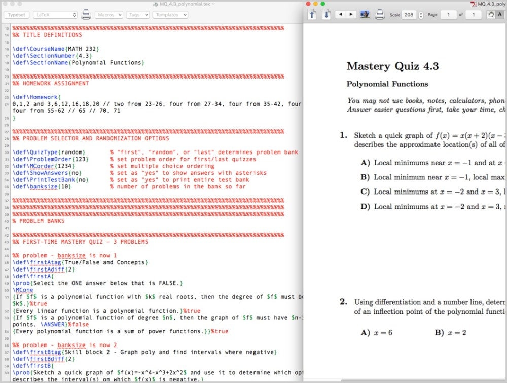 medium resolution of generating random mastery quizzes with nothing but latex