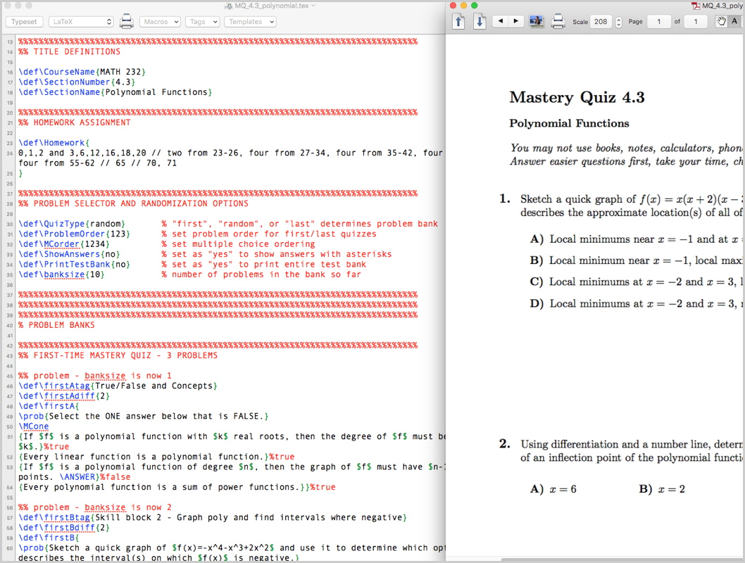 hight resolution of generating random mastery quizzes with nothing but latex