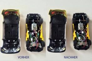 Carrera Autos Fahrzeuge reinigen