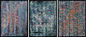NATURAL, NON-ARTIFICIAL INTELLIGENCE OF NATURE (M. Sager, 2021. Acrylic on canvas, each 30 x 40 cm)
