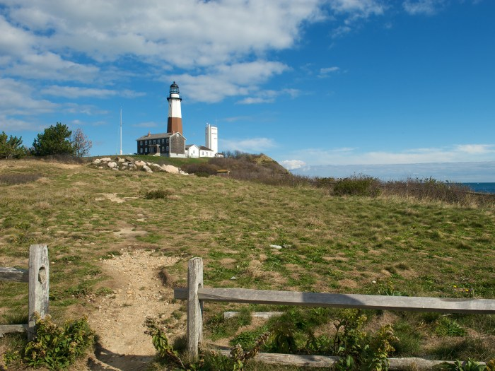 the lighthouse at Montauk Point, at the tip of Long Island in New York, USA