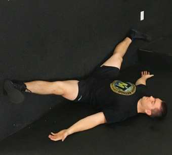 Wall Straddle Stretch Hip Mobility Exercise