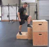 Plyometric Box Jump Exercise 2