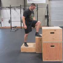 Plyometric Box Jump Exercise 2