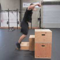 Plyometric Box Jump Exercise 1
