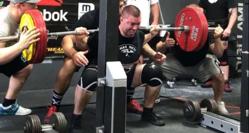 powerlifting meet attempt 500 squat