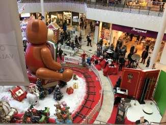 Noël au centre d'achats