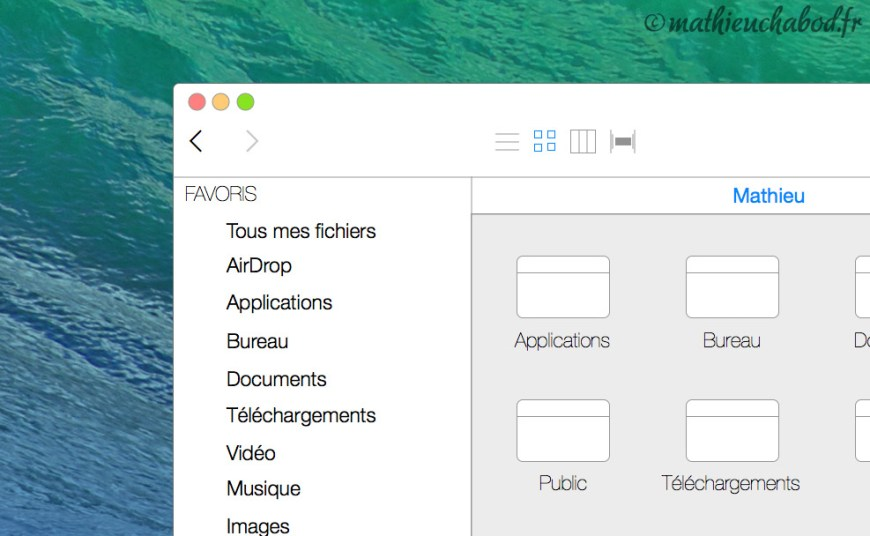 Concept OS X 10.10 iOS 7 mathieuchabod.fr