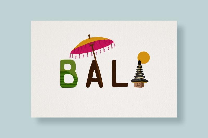 Carte Typostale Bali