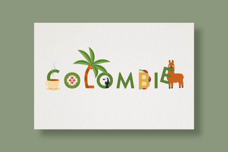 Carte Typostale Colombie