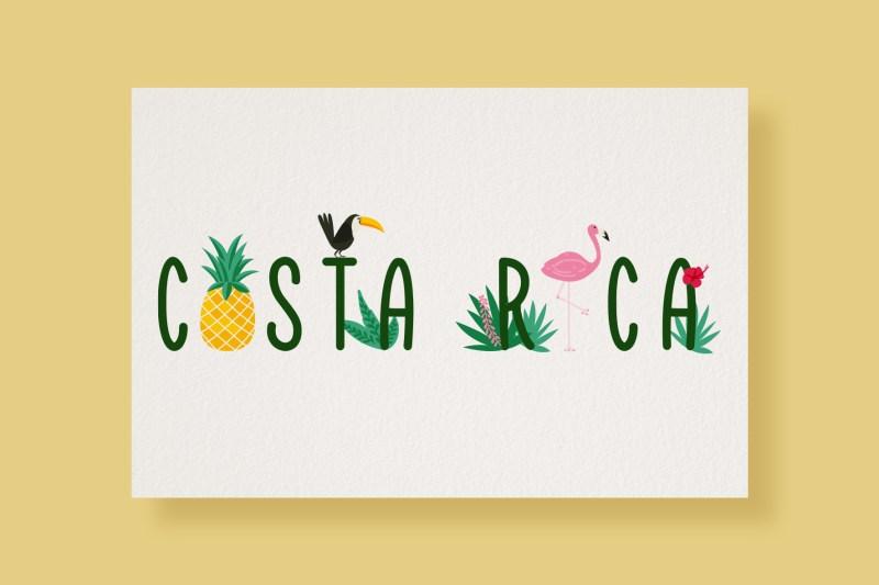 Carte Typostale Costa Rica