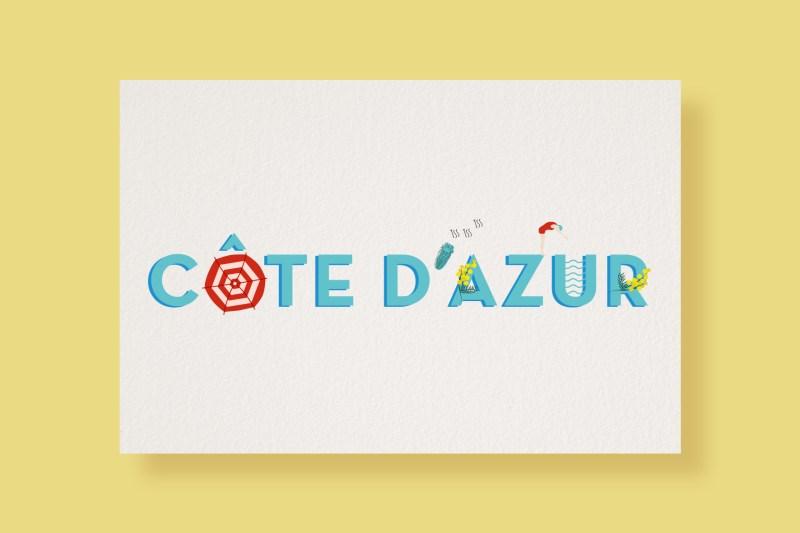 Carte Typostale Côte d'azur