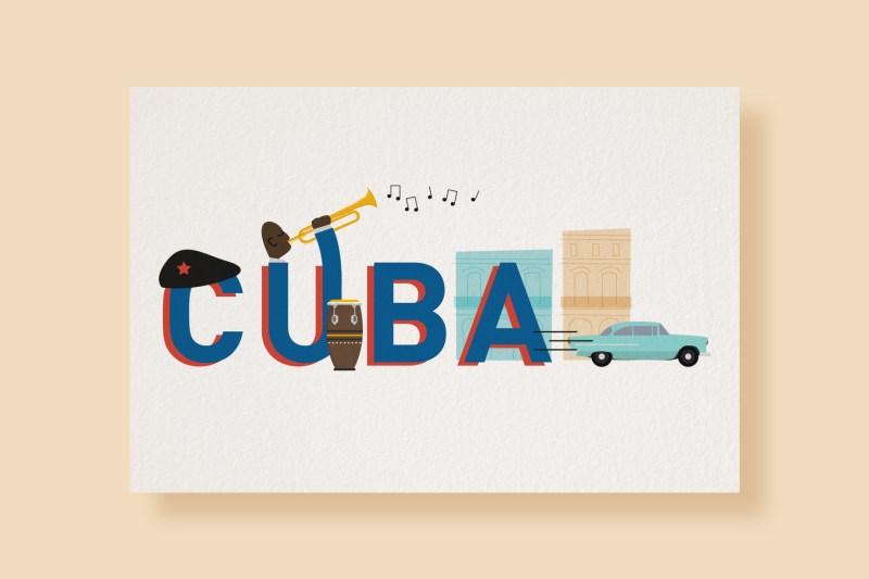 Carte Typostale Cuba
